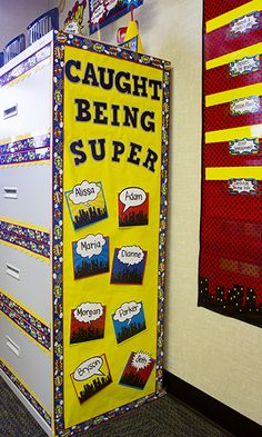 Superhero Cityscape Straight Border Trim - Use colorful border trim to liven up your classroom! Create fresh looks for bulletin boards, windows, walls, and class projects. Mix and match with coordinating products (stickers, notepads, awards, etc.) for a classroom theme.