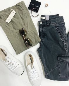 Today's ootd look! Our popular Double Layer S/Slv Tee paired with our pigment black utility trousers! #soreadyforfall #converse #easychic #cynjin #cynjinofficial #ootd #outfitlay #simple #hermes #bobbibrown