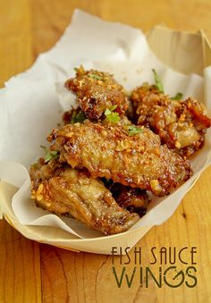 "Vietnamese fish sauce wings or cánh gà chiên nước mắm from the ""Ravenous Couple"" blog.  http://www.theravenouscouple.com/2013/02/fish-sauce-wings-pok-pok-wings-recipe.html"