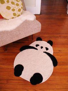 Tapis de Panda par peanutbutterdynamite sur Etsy