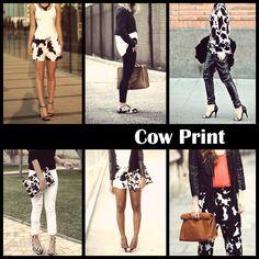 A estampa da vez: cow print