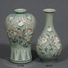 Pink Peony Vase & Bottle II