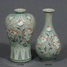 Korean celadon is often referred to as Goryeo celadon, which is usually a pale green-blue in color.