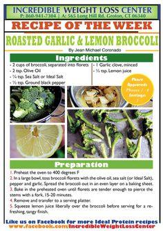 Roasted Garlic & Lemon Broccoli