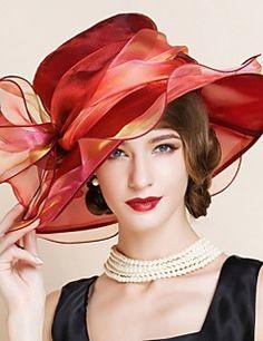 Mujer Sombrero Floppy Vintage/Fiesta - Todas las Temporadas - Malla