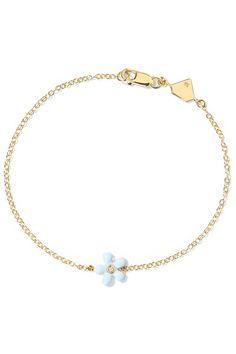 Love U 14-karat Gold, Diamond And Enamel Bracelet - one size Alison Lou