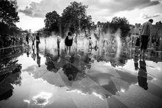 NANTES - Miroir d'eau (septembre 2015) [NANTES, Loire-Atlantique, Pays-de-la-Loire, FRANCE] -  Photo : Nicolas AUVRAY