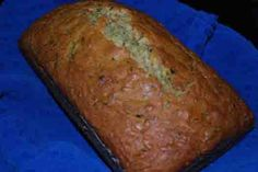 Zuchinni Bread - yum.  Try with 1/2 brown sugar and applesauce in place of 1/2 the oil. Also triple the spices and add cloves. (Zuchinni Muffin Healthy)