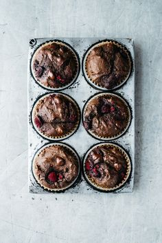 Chocolate, Raspberry, Buckwheat Muffins | TENDING the TABLE