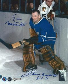 Signed Johnny Bower & Eric Nesterenkos Maple Leafs Photo - COA Signed in sharpie. Ice Hockey Players, Hockey Goalie, Hockey Cards, Baseball Cards, Maple Leafs Hockey, Star Wars, Tim Hortons, Toronto Maple Leafs, Detroit Red Wings