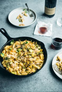 Mac and Cheese with Bacon and Crispy Brussels Sprouts