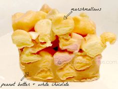 White Chocolate Peanut Butter Marshmallow Squares via @spendpennies