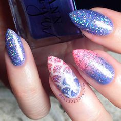 Fabulous Mermaid Nails Ideas ★ See more: https://naildesignsjournal.com/fabulous-mermaid-nails-ideas/ #nails
