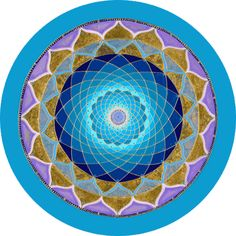 Blue Heaven Round - my favorite mandala! Doesn't it look so peaceful and happy at the same time? #mandala