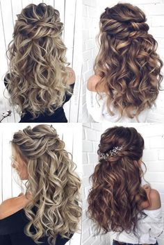 braided hairstyles for black women Long half up half down wedding hairstyles and wedding updos from mpobedinskaya Wedding Hair Down, Wedding Hairstyles For Long Hair, Wedding Hair And Makeup, Boho Wedding, Half Up Half Down Wedding Hair, Wedding Night, Long Hair Wedding Styles, Curly Half Up Half Down, Wedding Updo