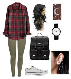 """""""Bez naslova #22"""" by laura-medved on Polyvore featuring moda, JDY, Madewell, Converse, Sole Society i Free People"""