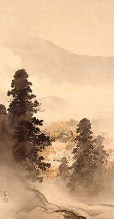 Kawai Gyokudō,『山村晩秋』, 水野美術館蔵