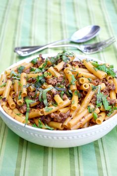 Pasta with Sausage, Basil and Mustard | Go Go Go Gourmet for The Wise Baby