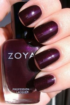 Zoya Sloane (Eggplant purple nail polish)