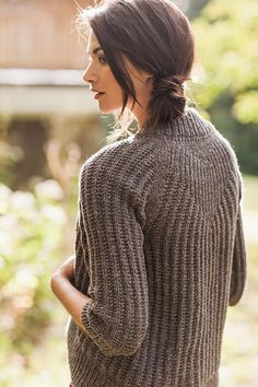 Back Detail on the Svalbard Cardigan