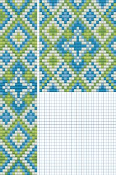 Pattern for loom beading that could also be used for cross stitch, needlepoint and crochet.