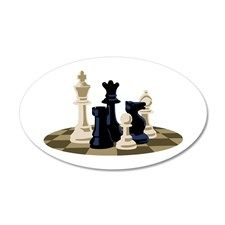 Chess Pieces Game Wall Decal
