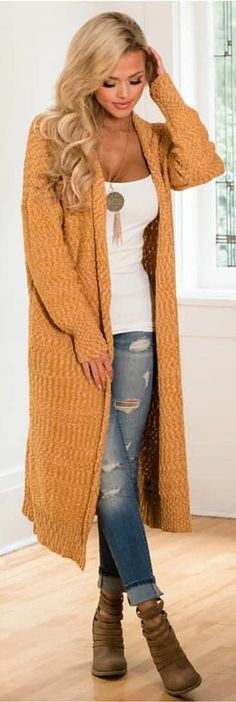 #winter #outfits brown cardigan #womenclothingwinter