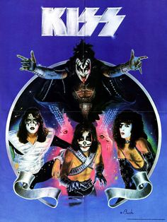 KISS Poster - Love Gun / Alive II Era