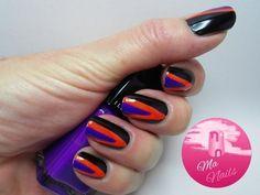 Black Angled Nails - #blackangled #nails #nailpolish #brightpolish #angledpolish #ma-nails - bellashoot.com