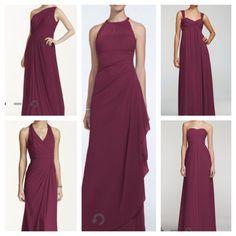 Wine-colored bridesmaids dresses