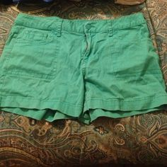 Teal shorts Cute teal shorts perfect for the summer. Been worn a few times but in great condition. Shorts Jean Shorts