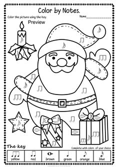 Simple and Fun Christmas Music Coloring Activity for Kids. This set contains 14 designs in 3 different formats (42 pages in total). #elmused #musictpt #music #musicworksheets #musiceducation #musiccoloring  #AMStudio