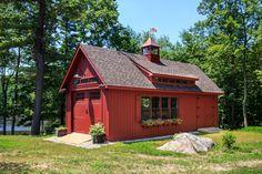 Grand Victorian Single Bay Garage Photos: The Barn Yard & Great Country Garages Barn Garage, Garage House, Backyard Barn, Tiny House Luxury, Garage Remodel, Corner House, Hip Roof, Shed Homes, Barn Plans