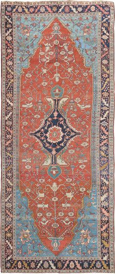 "Persian Heriz Serapi rug, 5' 7"" x 13' 8"", J.H. Minassian gallery"