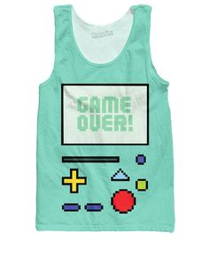 Every gamer needs this all-over print Game Over BMO Tank Top from our Classics brand! This fully sublimated design is inspired by the gameboy style cartoon character from Adventure Time! Show your love for video games and get this vibrant tank today. Designed by: Danielle S.This product is hand made and made on-demand.