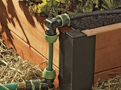 Using soaker hoses in raised beds can be tricky. Typically parts of the hose wind up soaking footpaths as they snake throughout beds. A snip-n-drip soaker hose system lets you trim soaker hoses to the correct length for your raised beds. Once hoses are cut, snap fittings into place and turn the water on.