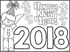 {FREEBIE} Happy New Year Coloring Sheet Happy New Year! I hope this little freebie helps you while preparing to go back to school in the New Year! More New Year goodies.Happy New Year {Craftivities, ELA & Math Centers and Printables Too! Kindergarten Classroom, Kindergarten Activities, Classroom Activities, Kindergarten Freebies, Preschool Literacy, Class Activities, New Year Coloring Pages, School Coloring Pages, New Years Activities