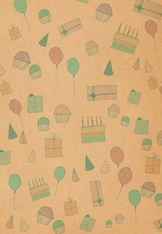 #Birthday #Card Free Printable - Birthday Pattern Greeting Card