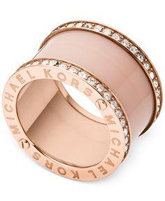Michael Kors Rose Gold-Tone Barrel Ring.. Just for me