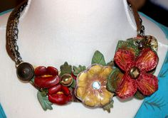 Beautiful hand worked leather necklace!