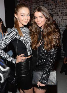 Gorgeous #GUESS girls Gigi Hadid and Natasha Barnard at #NYFW