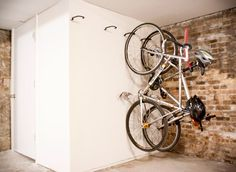 While moving some things back down to the basement this past weekend, a simple solution to a never ending problem hit me like a ton of spokes. Let's hang more bikes from things!You may have seen our storage solution for my most cherished bikes right here, but all the while, there are still five…