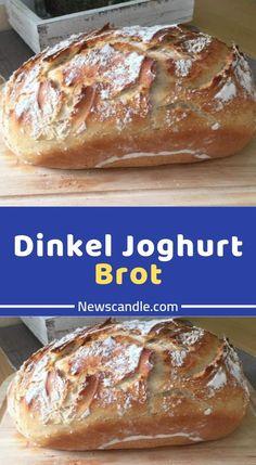 Dinkel Joghurt Brot - Zutaten 700 g Dinkelmehl Type 630 100 g Roggenmehl 350 ml Wasser, lauwarm 20 g Hefe 3 TL, gestr. Homemade Sandwich Bread, Sandwich Bread Recipes, Yeast Bread Recipes, Quick Ground Beef Recipes, Beef Recipes For Dinner, Yogurt Bread, Easy Bread, Cheesecake, Easy Meals