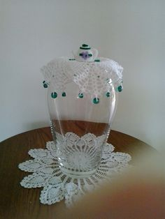 Milk Jug cover with crochet teapot on top