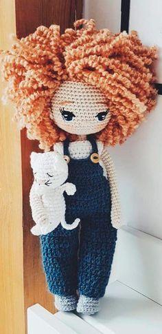 Crochet Dolls Free Patterns, Crochet Doll Pattern, Amigurumi Patterns, Crochet Designs, Crochet Toys, Free Crochet, Knitted Dolls, Easy Knitting Projects, Crochet Projects