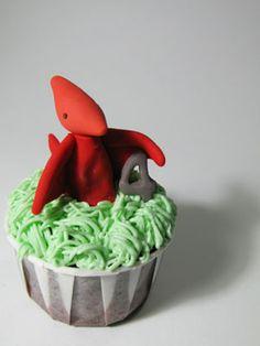 TIERRA DE DINOSAURIOS: Cupcakes de dinosaurios.
