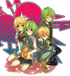 Rin and GUMI BESTIES. LEN and GUMO besties