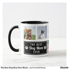The Best Dog Mom Ever Black Pet Collage Photo Mug Collage Photo, Coffee Lover Gifts, Cute Mugs, Mug Designs, Dog Mom, Best Dogs, Dinnerware, Gifts For Mom, Photo Mugs