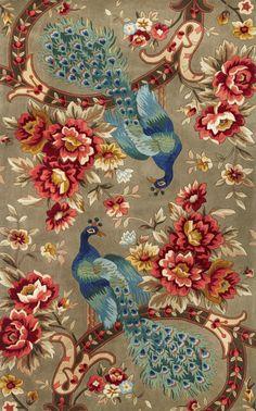 KAS Oriental Rugs Catalina Peacock Flora Rug
