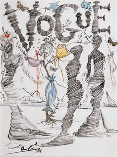 Salvador Dali illustration for Vogue, 1944